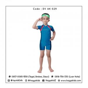 ED DV AK 029 BLUE-RED BAJU RENANG ANAK EDORA