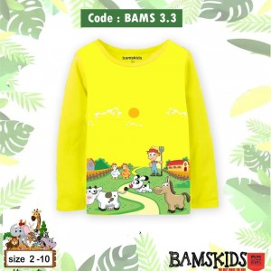 BAMS 3.3 YELLOW FARM KAOS ANAK BAMS KIDS