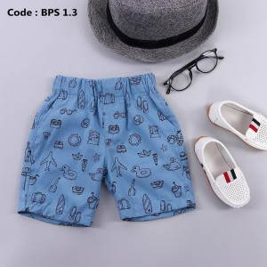 BPS 4.3 JUN BLUE BOYS PATTERNED SHORT PANTS