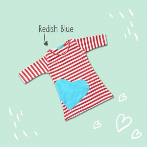 RUNNY 2.10 JUN REDISH BLUE DRESS RUNNY MIDI
