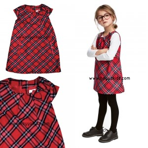 FLANEL DRESS RED