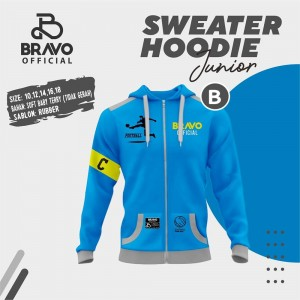 BR B BLUE FOOTBALL SWEATER HOODIE JUN BRAVO