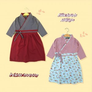 AIKO 1.1 JUN PINK BLUSH SAKURA AIKO GAMIS HANBOK JUNIOR