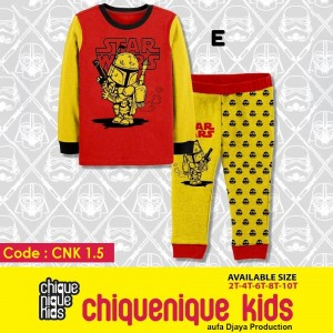 CNK 1.5 RED ALLIEN PIYAMA CHIQUE NIQUE KIDS