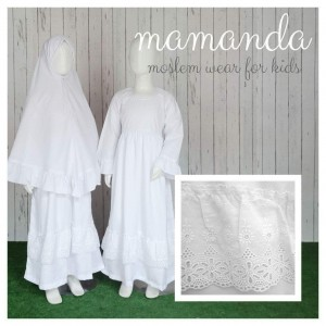 MMD SS ALL WHITE SALEHA SERIES MAMANDA S