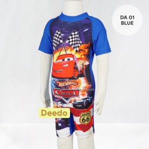 DD DA 01 BLUE CARS BAJU RENANG ANAK DEEDA