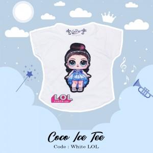 CC 3.4 WHITE LOL 10 12 14 KAOS ANAK COCO ICE