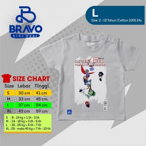 BR 1.12 L GREY CAPTAIN  KAOS ANAK BRAVO