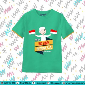 UR 6.11 WE LOVE INDONESIA KAOS ANAK UPRIGHT