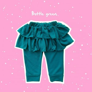 ALD 1.7 JUN BOTTLE GREEN ALODIA PANTS SKIRT