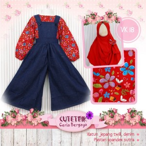 CTR BIG VK-18 RED OVERALL GAMIS ANAK CUTERIK
