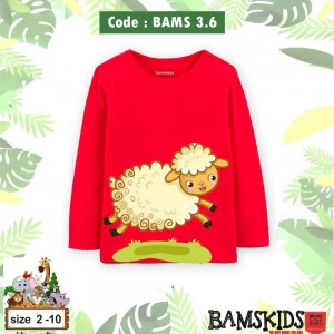 BAMS 3.6 RED SHEEP KAOS ANAK BAMS KIDS
