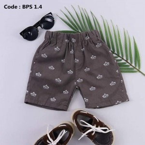 BPS 4.4 GREY BOYS PATTERNED SHORT PANTS