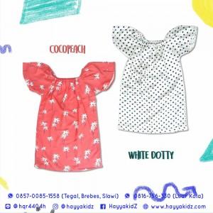 ANETTE DRESS WHITE DOTTY