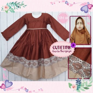 CTR BIG VH-18 BROWNIES GAMIS ANAK CUTERIK