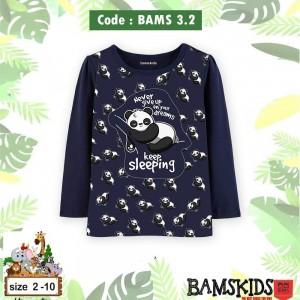 BAMS 3.2 NAVY PANDA KAOS ANAK BAMS KIDS
