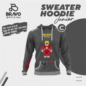 BR C DARK GREY ROBLOX SWEATER HOODIE JUN BRAVO