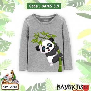 BAMS 3.9 GREY PANDA KAOS ANAK BAMS KIDS