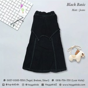 FL 1.14 BLACK BASIC ROK JEANS 16-20 FEELIT