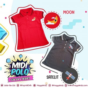MP JUN SATELIT MIDI POLO DRESS