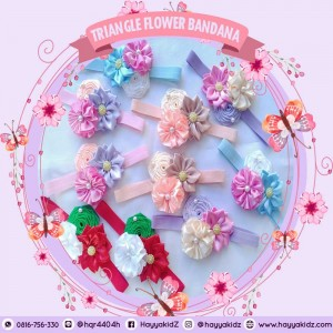 TRIANGLE FLOWER BANDANA