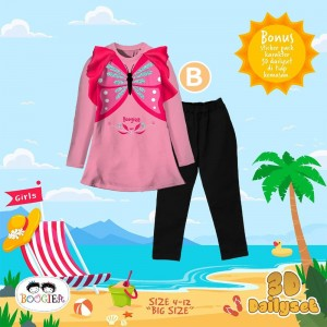 BOO 4.2 PINK BUTTERFLY 3D DAILY SET BOOGIE