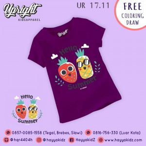 UR 17.11 PURPLE SUMMER KAOS ANAK UPRIGHT