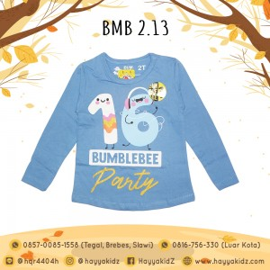 BMB 2.13 BLUE 16 PARTY KAOS ANAK BUMBLEBEE